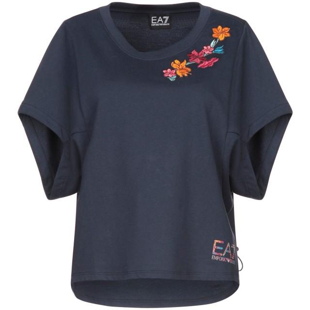 《セール開催中》EA7 レディース スウェットシャツ ダークブルー XS コットン 100%