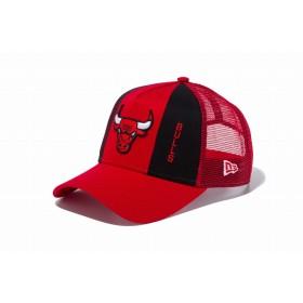 【ニューエラ公式】 9FORTY A-Frame トラッカー フロントカスタム シカゴ・ブルズ スカーレット × チームカラー メンズ レディース 56.8 - 60.6cm NBA キャップ 帽子 11899193 NEW ERA メッシュキャップ