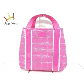 ケイトスペード Kate spade トートバッグ - PXRU0728 ピンク×白 チェック柄     スペシャル特価 20200213