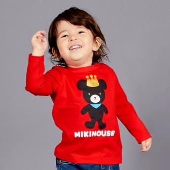 ミキハウス キングくん長袖Tシャツ 赤