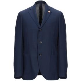《期間限定 セール開催中》LARDINI メンズ テーラードジャケット ダークブルー 50 ウール 92% / モヘヤ 8%