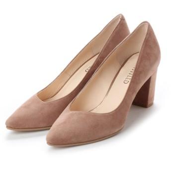 アンタイトル シューズ UNTITLED shoes ポインテッドプレーンパンプス (ベージュスエード)