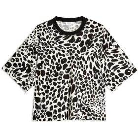 《期間限定セール開催中!》TOPSHOP レディース T シャツ ブラック S/M コットン 100% BOXY CHEETAH T-SHIRT