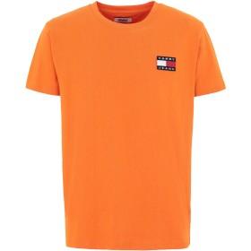 《セール開催中》TOMMY JEANS メンズ T シャツ オレンジ S コットン 100% TJM TOMMY BADGE TEE
