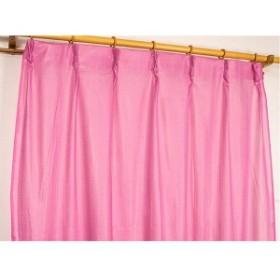 カラー レースカーテン ミラーレース / 100cm×133cm ピンク / 2枚組 洗える アジャスターフック付き 『セルバ2』 九装