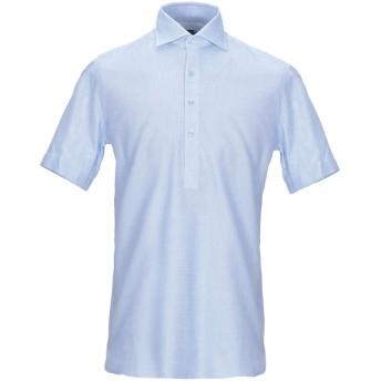 《9/20まで! 限定セール開催中》BARBA Napoli メンズ シャツ アジュールブルー 39 コットン 100%