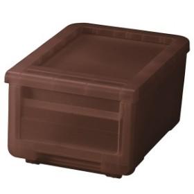 収納ボックス/衣類収納 【クリアブラウン】 幅30cm 日本製 プラスチック フタ付き 『天馬 カバコ プロフィックス カバゾコ』