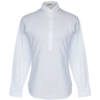 《期間限定セール開催中!》DEPERLU メンズ ポロシャツ ホワイト S コットン 100%