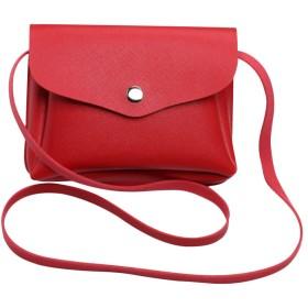 Plus Nao(プラスナオ) ショルダーバッグ ミニショルダー ポシェット ミニバッグ コンパクト バッグ 鞄 かばん カバン 斜めがけ スマホ お財 - レッド