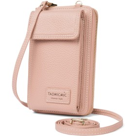 【Enmain 】ピンク 携带バッグ ミニ 財布 レディース 斜めがけ ショルダーバッグ 2way 高強度 軽量 撥水 2ポケットトート 化粧品 iPhone6 6Plus対応 ALW01K