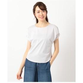 組曲 【洗える】ハイゲージトリコット カットソー Tシャツ・カットソー,ライトグレー系3