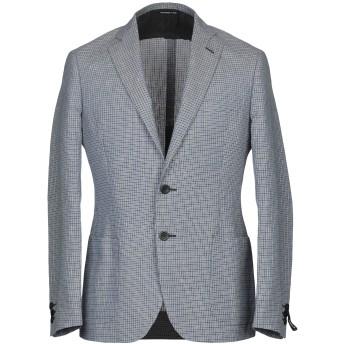 《期間限定セール開催中!》TONELLO メンズ テーラードジャケット ブルー 52 麻 50% / コットン 50%