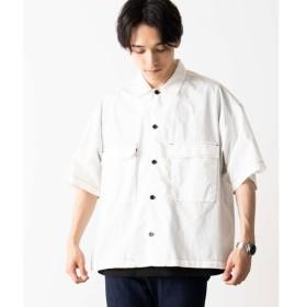 [マルイ]【セール】配色ステッチ5分袖ワークシャツ/ウィゴー(メンズ)(WEGO)