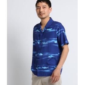 【64%OFF】 タケオキクチ シャークボーダーシャツ [ メンズ シャツ 半袖 ] メンズ ブルー(193) 02(M) 【TAKEO KIKUCHI】 【タイムセール開催中】