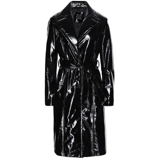 《セール開催中》8 by YOOX レディース ライトコート ブラック 38 羊革(ラムスキン) 100%