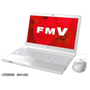 ノートパソコン 富士通 15.6型ノートパソコン FMV LIFEBOOK AH41/D2 アーバンホワイト [AMD A4-9125 /メモリ 4GB /SSD 256GB /Microsoft Office 2019] FMVA41D2W 【返品種別A】
