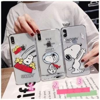 Snoopyケース iphone Xs MAX ケース アイホンケース スヌーピー iPhone8 plusケーススマホケース 透明ケース 柔軟 保護 携帯カバー