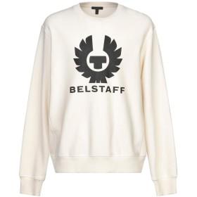 《期間限定 セール開催中》BELSTAFF メンズ スウェットシャツ アイボリー XL コットン 100%