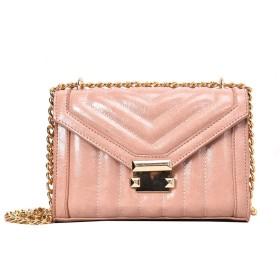 FGQZチェーンショルダーバッグファッションレトロひし形の小さな正方形のバッグ韓国語バージョンのロック斜めクロスバッグ - ピンク