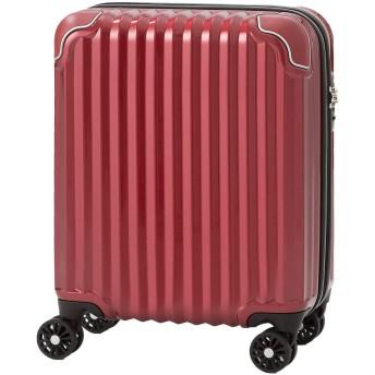 [錦原ラゲッジジャパン] スーツケース キャリーケース 機内持ち込み 小型 S SSサイズ 軽量 レッド (鏡面)
