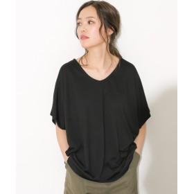 ソーシャルガール シンプルドルマンtシャツ レディース ブラック系1 L 【SocialGIRL】