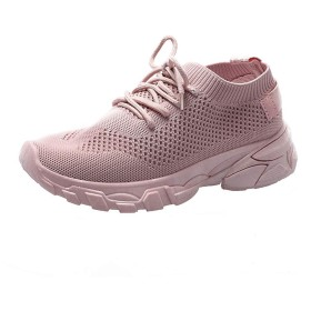 【Feteso】スニーカー レディース フラットシューズカジュアル 無地 轻量 通気性 滑り止め 歩きやすい 春夏秋 持ち運び 通勤 旅行 Women Mesh Running Sports Shoes