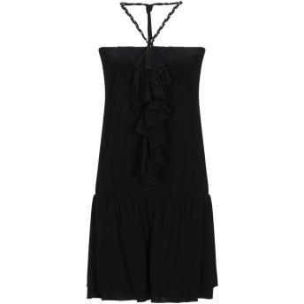 《セール開催中》PATRIZIA PEPE レディース ミニワンピース&ドレス ブラック 1 レーヨン 95% / ポリウレタン 5%