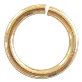 金具パーツ 鉄製 丸カン 500パック (ゴールド/線径φ1.2×内径6.8mm直径9mm)