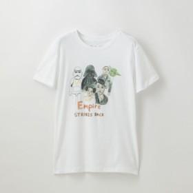 SALE【ラブレス(LOVELESS)】 【U.P.(Unfortunate Portrait)】WOMEN Tシャツ Empire STRIKES BACK 【U.P.(Unfortunate Portrait)】WOMEN Tシャツ Empire STRIKES BACK ホワイト1
