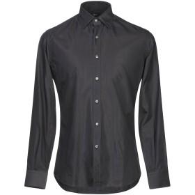 《期間限定セール開催中!》INGRAM メンズ シャツ ブラック 38 コットン 60% / レーヨン 40%