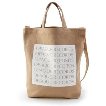 オペークドットクリップ ロゴトートバッグ レディース ベージュ(052) 99 【OPAQUE. CLIP】