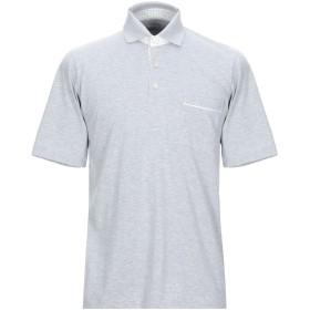 《期間限定セール開催中!》FEDELI メンズ ポロシャツ ライトグレー 48 オーガニックコットン 100%
