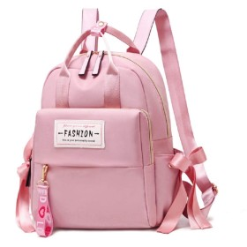ZNYFリュック レディース かわいい 女の子 ナイロン bag for women おしゃれ 大容量 軽量 人気3way (pink)