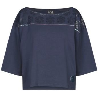 《セール開催中》EA7 レディース T シャツ ブルー XS コットン 48% / レーヨン 47% / ポリウレタン 5%