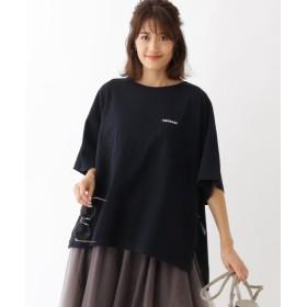 アクアガール ◆Americana サイドジップビッグTシャツ レディース ブラック(019) 02 【aquagirl】