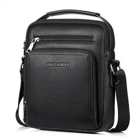 ビジネスバッグ メンズ ショルダーバッグ 革 斜めがけ ショルダーバッグ レザー ビジネス 通勤 出張 旅行 ブラック