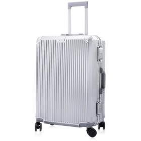IMILLET スーツケース キャリーケース キャリーバッグ TSAロック搭載 アルミフレーム 軽量 XZY Sサイズ 機内持込可能 約35L 1~3泊 シルバーB