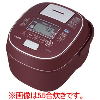 東芝真空圧力IH炊飯ジャー(1升炊き)オリジナル 真空+圧力 合わせ炊きディープレッドRC-18E7VS(RS)