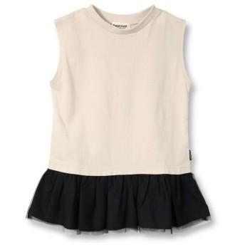 ブランシェス 裾チュール切替Tシャツ(90~140cm) レディース ベージュ 120cm 【branshes】