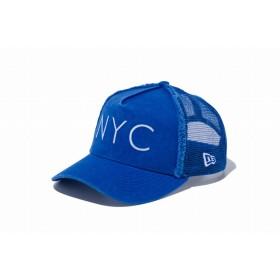 【ニューエラ公式】キッズ 9FORTY A-Frame トラッカー NYC ブルーアズール × ホワイト 男の子 女の子 52 - 55.8cm キャップ 帽子 11900993 NEW ERA メッシュキャップ