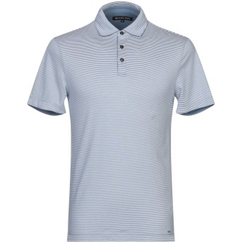《期間限定セール開催中!》MICHAEL KORS MENS メンズ ポロシャツ ブルーグレー XS 100% コットン