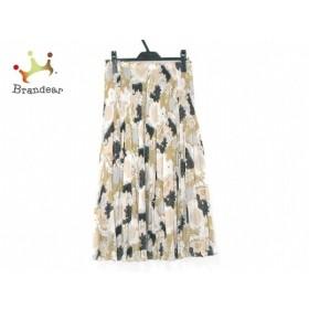 ヒロココシノ ロングスカート サイズ40 M レディース 美品 カーキ×黒×ベージュ シースルー 新着 20190731