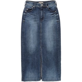 YANUK WOMEN YANUK(ヤヌーク) スリット ロング デニム スカート /57183033 デニムスカート,ブルー