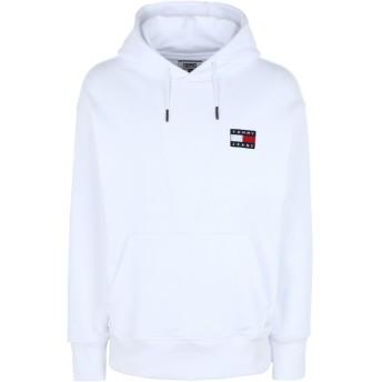 《セール開催中》TOMMY JEANS メンズ スウェットシャツ ホワイト L コットン BCI 100% TJM TOMMY BADGE HOOD
