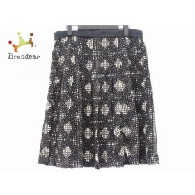 ニジュウサンク 23区 スカート サイズ46 XL レディース 美品 黒×白×グレー ドット柄 新着 20190731