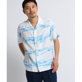 【64%OFF】 タケオキクチ シャークボーダーシャツ [ メンズ シャツ 半袖 ] メンズ ホワイト(101) 02(M) 【TAKEO KIKUCHI】 【タイムセール開催中】