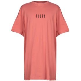 《期間限定セール開催中!》PAURA メンズ T シャツ サーモンピンク S コットン 100%