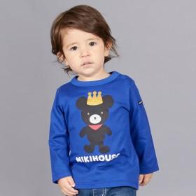 ミキハウス キングくん長袖Tシャツ 青