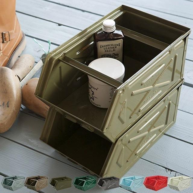 ダルトン DULTON パーツストッカー 小物ケース 工具箱 インテリア スチール ( 収納ボックス 前開き 収納ケース 小物収納 収納 )