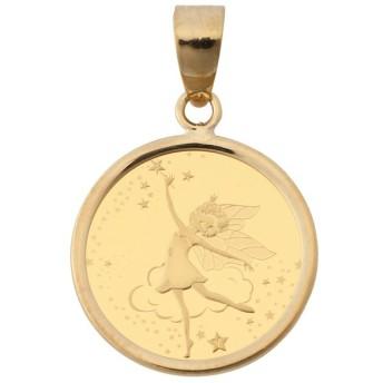 純金 K24 フェアリー 妖精 1/25oz レディース コイン ペンダントトップ シンプル枠 送料無料